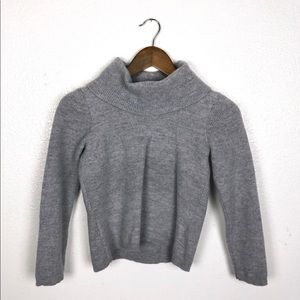 Sarah Spencer | Gray Turtleneck Wool Sweater